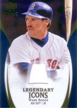 Wade Boggs Game Worn Jersey Card