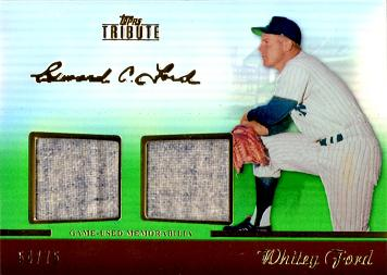 Whitey Ford Game Worn Jersey Card