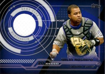 Wilin Rosario Game Worn Jersey Baseball Card