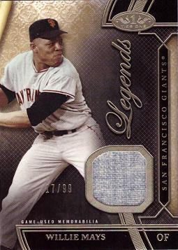 Willie Mays Game Worn Jersey Baseball Card