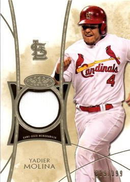 Yadier Molina Game Worn Jersey Card