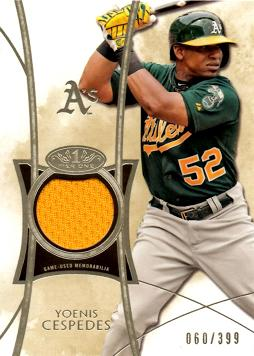 Yoenis Cespedes Game Worn Jersey Card