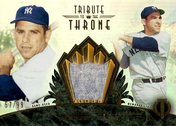 2014 Topps Tribute Relics Yogi Berra Game Worn Jersey Baseball Card