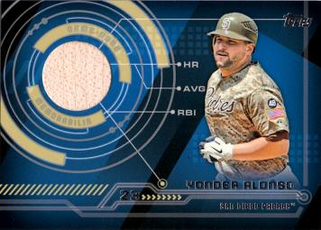 Yonder Alonso Game Used Bat Baseball Card