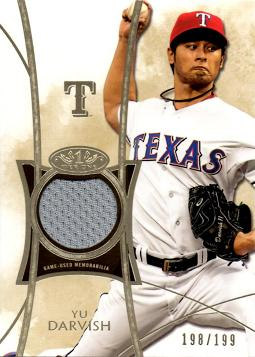 Yu Darvish Game Worn Jersey Card