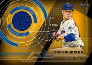 Zack Wheeler Game Worn Jersey Baseball Card