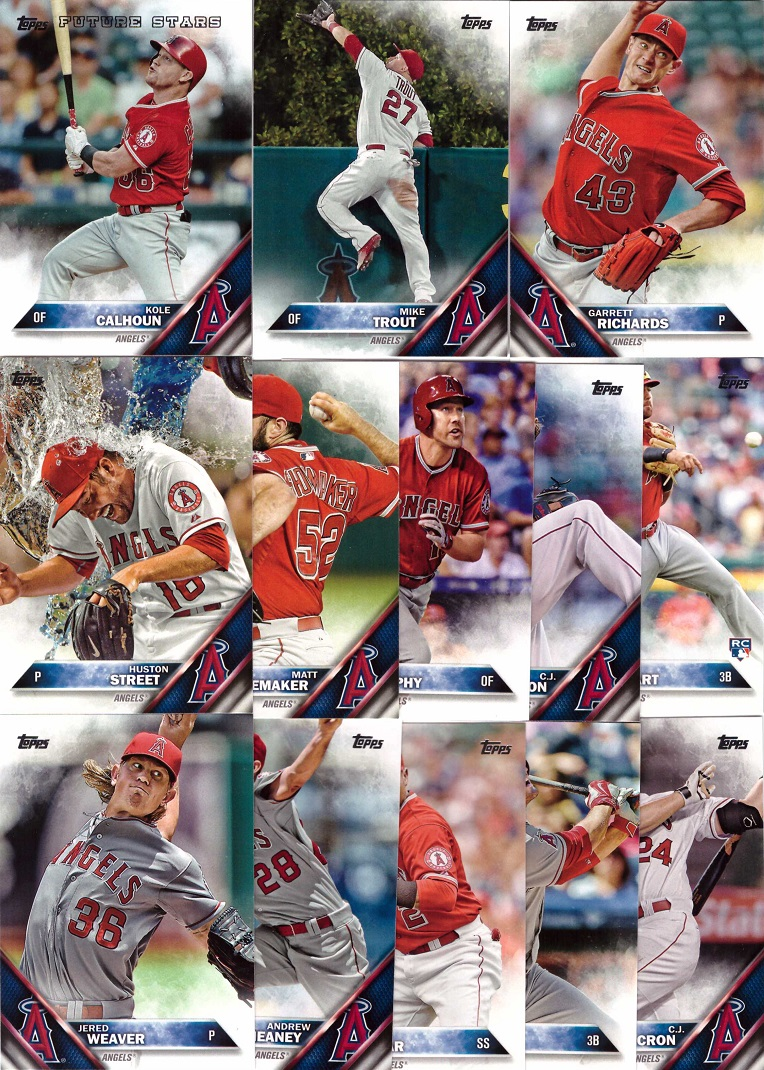 2016 Topps Angels Team Set