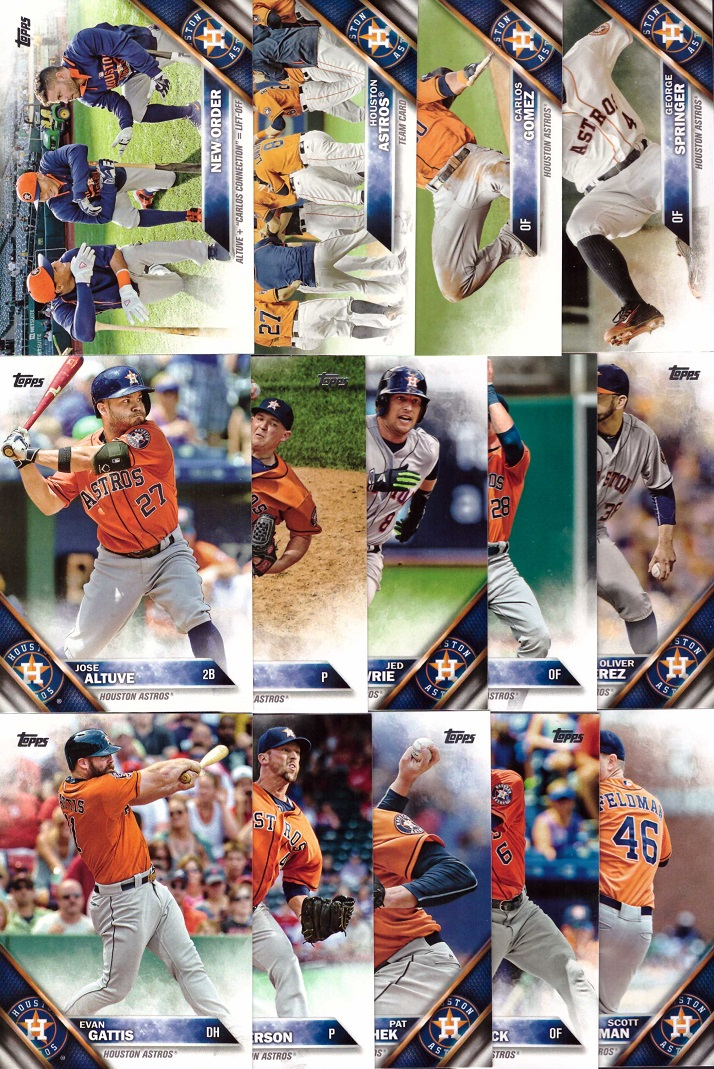2016 Topps Astros Baseball Card Team Set
