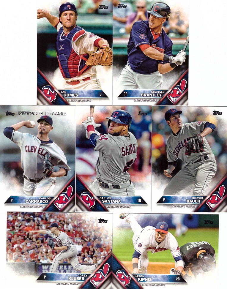 2016 Topps Indians Baseball Card Team Set