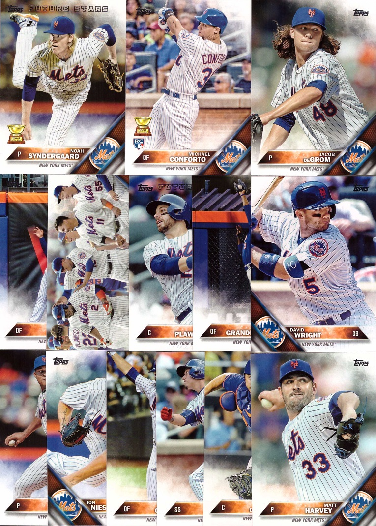 2016 Topps Mets Baseball Card Team Set