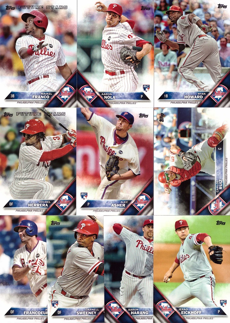 2016 Topps Phillies Baseball Card Team Set