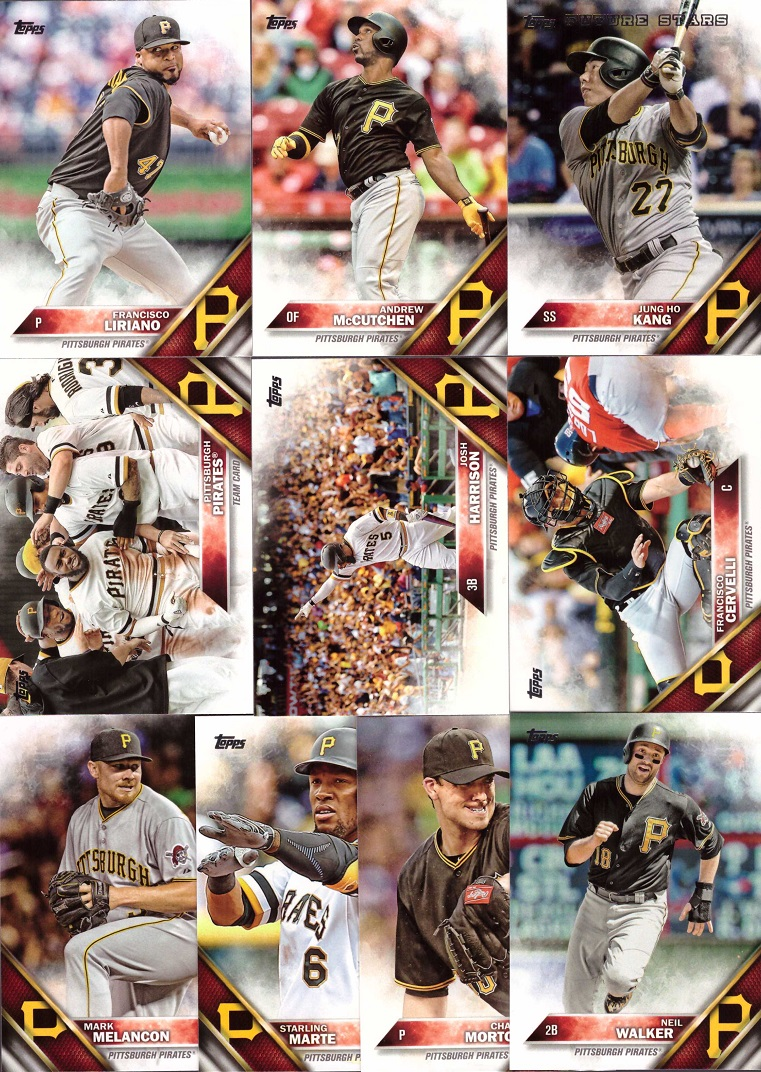 2016 Topps Pirates Baseball Card Team Set