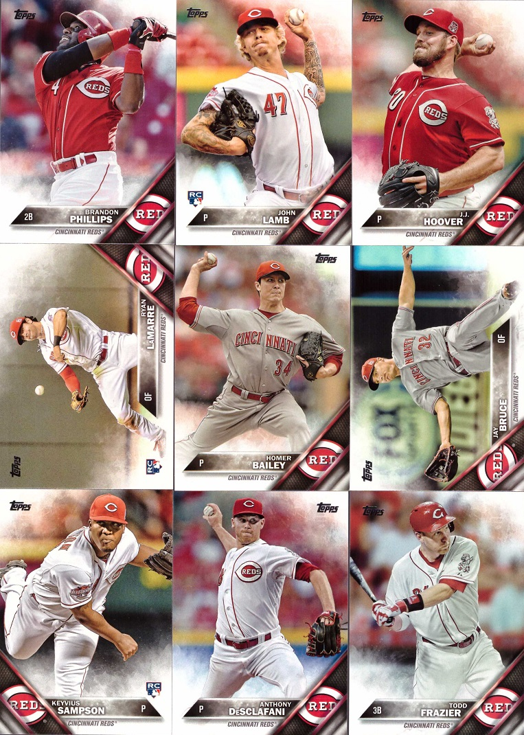 2016 Topps Reds Baseball Card Team Set