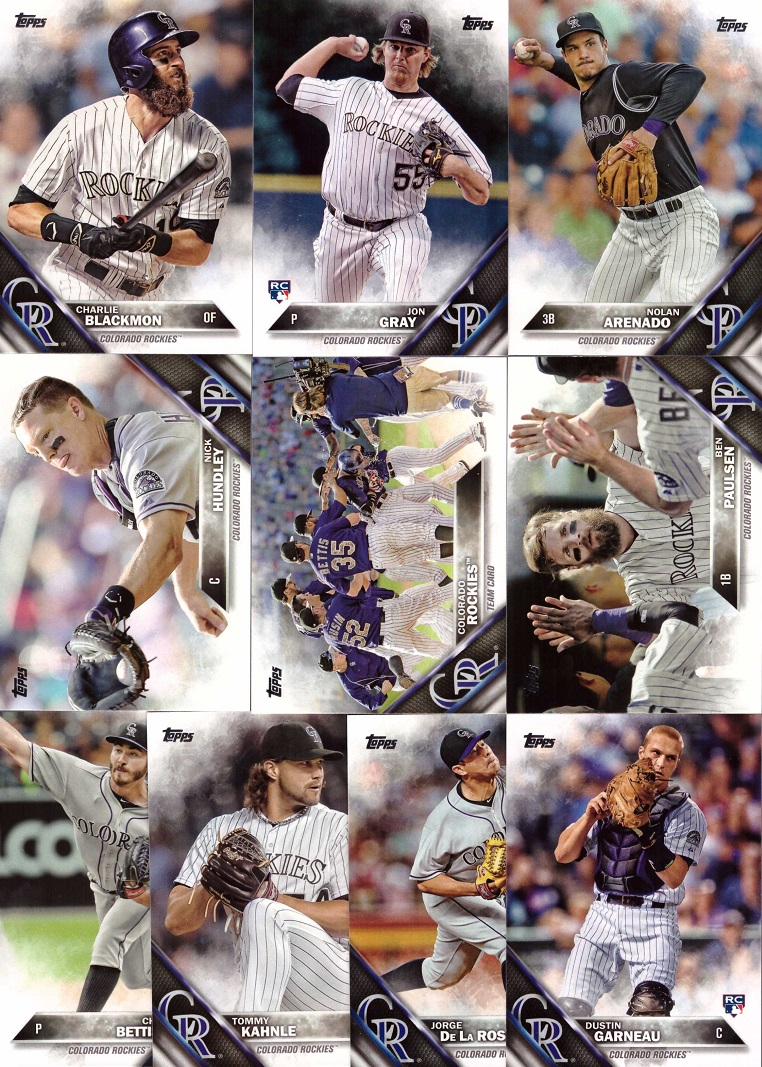 2016 Topps Rockies Baseball Card Team Set