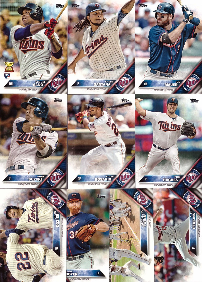 2016 Topps Twins Baseball Card Team Set