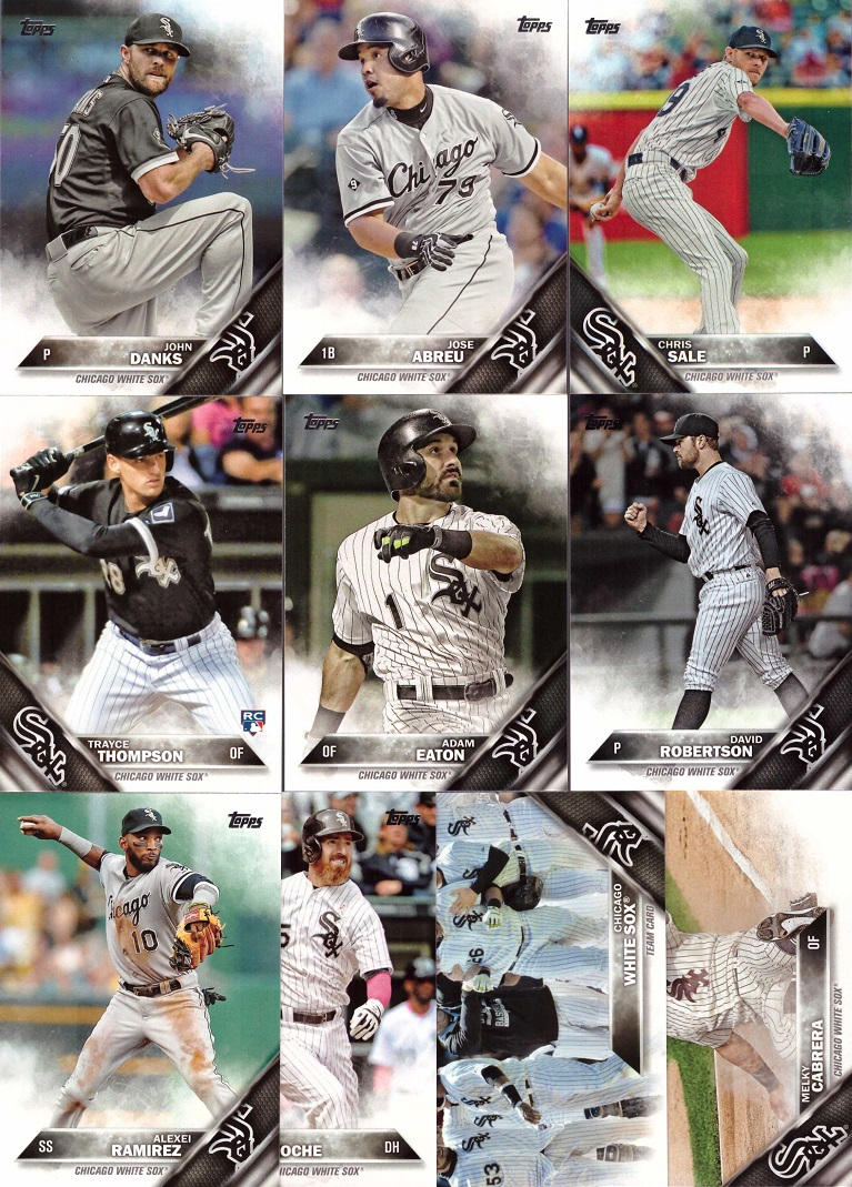 2016 Topps White Sox Baseball Card Team Set