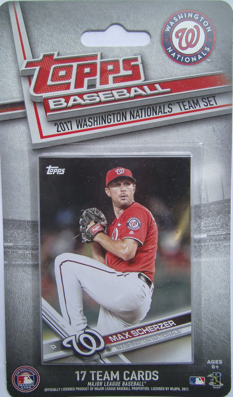 2017 Topps Washington Nationals Baseball Card Team Set