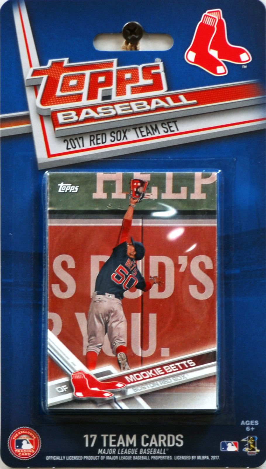 2017 Topps Boston Red Sox Factory Sealed Baseball Card Team Set