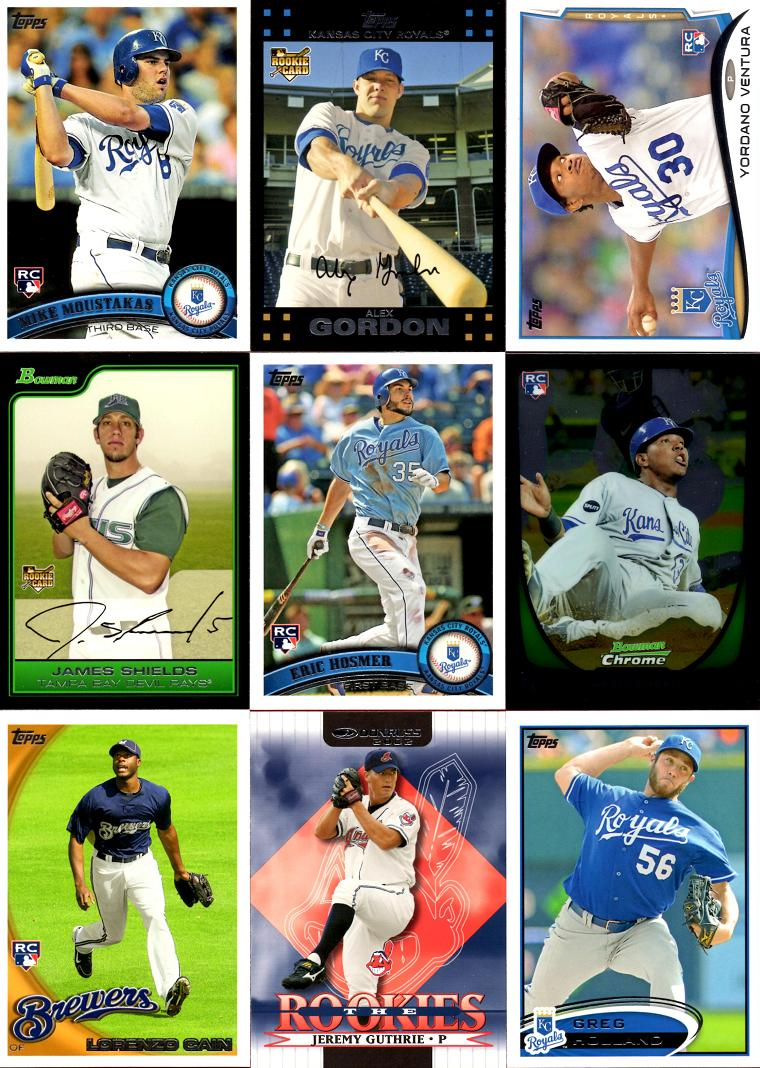 2014 Royals Baseball Rookie Card Team Set