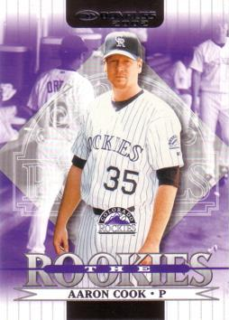 2002 Donruss the Rookies Aaron Cook Rookie Card