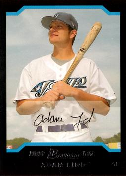 2004 Bowman Draft Picks Adam Lind Rookie Card