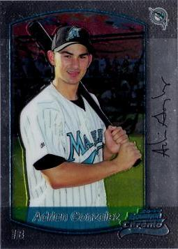 2000 Bowman Chrome Adrian Gonzalez Rookie Card