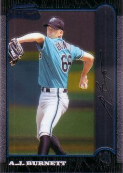 1999 Bowman Chrome A.J. Burnett Rookie Card