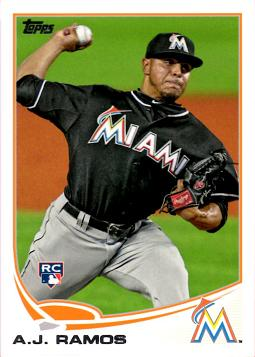 2013 Topps A.J. Ramos Rookie Card