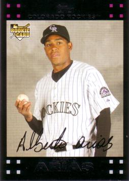 2007 Topps Update Alberto Arias Rookie Card