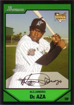2007 Bowman Draft Picks Alejandro De Aza Rookie Card