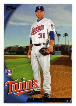 2010 Topps Alex Burnett Rookie Card