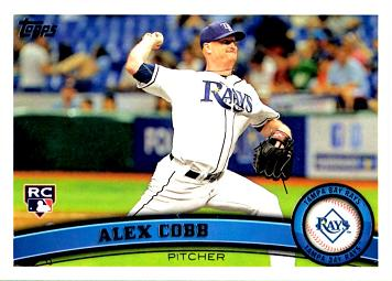 2011 Topps Update Alex Cobb Rookie Card