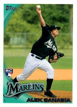 2010 Topps Update Alex Sanabia Rookie Card