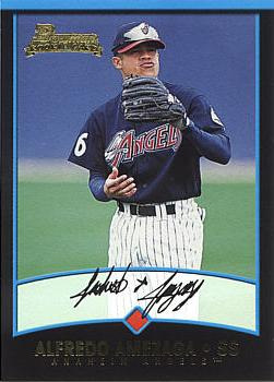 2001 Bowman Draft Alfredo Amezaga Rookie Card