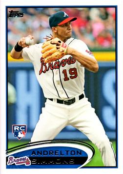 2012 Topps Update Andrelton Simmons Rookie Card