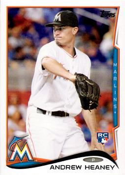 2014 Topps Update Baseball Andrew Heaney Rookie Card