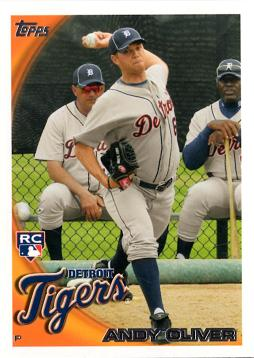 2010 Topps Update Andy Oliver Rookie Card