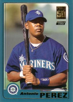 2001 Topps Traded Antonio Perez Rookie Card