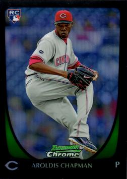 Aroldis Chapman Bowman Chrome Refractor Rookie Card