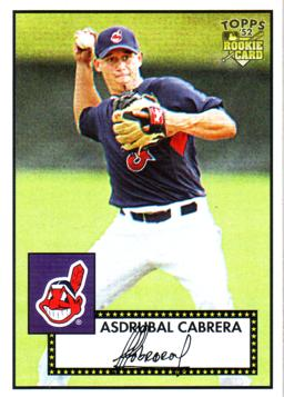 2007 Topps 52 Asdrubal Cabrera Rookie Card