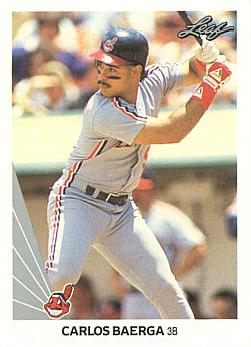 1990 Leaf Carlos Baerga Rookie Card