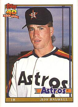 1991 Topps Traded Jeff Bagwell rookie card