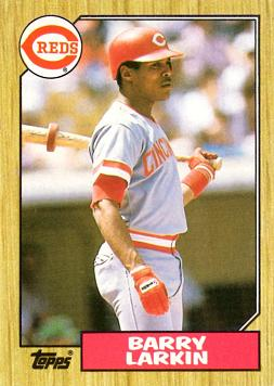 1987 Topps Barry Larkin Rookie Card