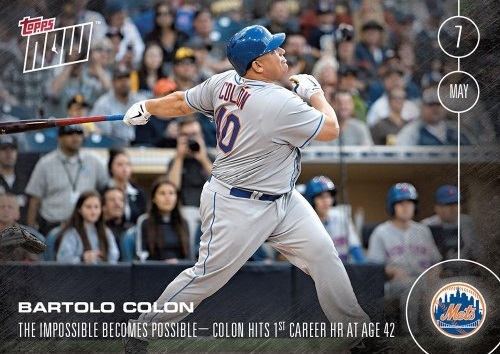 Bartolo Colon Hits First Career Home Run Baseball Card