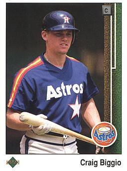 1989 Upper Deck Craig Biggio rookie card