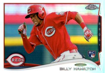 Billy Hamilton Topps Chrome Refractor Rookie Card