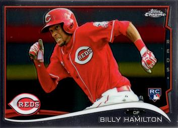 Billy Hamilton Topps Chrome Rookie Card