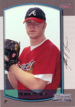 2000 Bowman Draft Picks Blaine Boyer Rookie Card