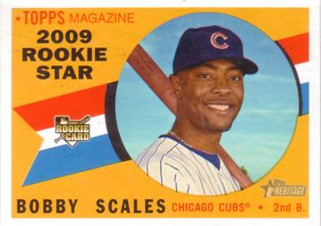 2009 Topps Heritage Bobby Scales Rookie Card