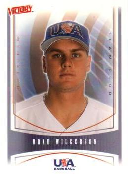 2000 Victory Brad Wilkerson Rookie Card